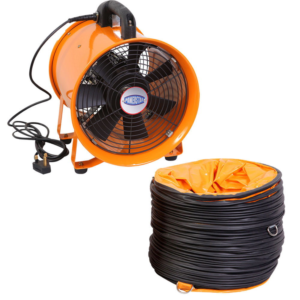 Air Duct Fan : Portable ventilator industrial air axial metal blower